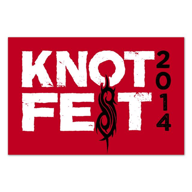 Slipknot Knotfest Stacked Logo Flag