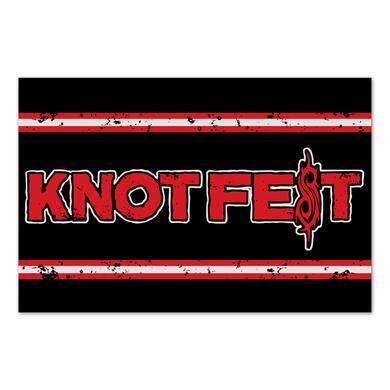 Slipknot Knotfest Distressed Logo Flag