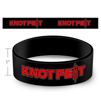 Slipknot Knotfest Logo Rubber Bracelet