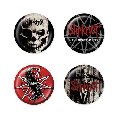 Slipknot The Gray Chapter 4 Button Set