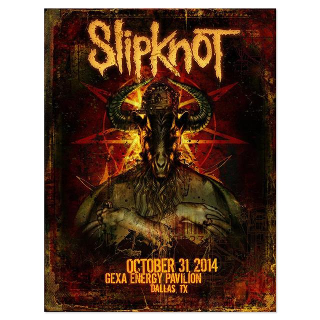 Slipknot Dallas Event Poster