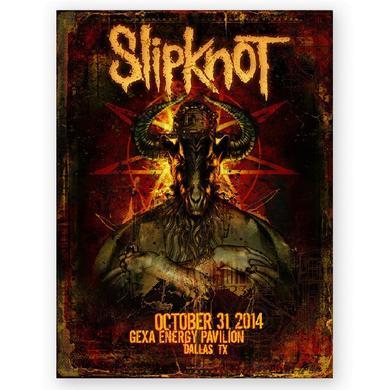 Slipknot Dallas Event Poster