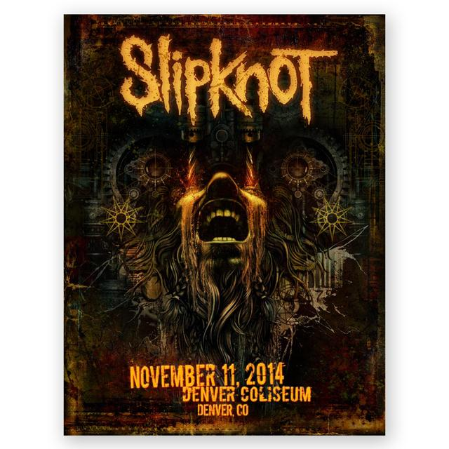 Slipknot Denver Event Poster