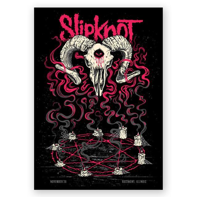 Slipknot Rosemont Event Poster