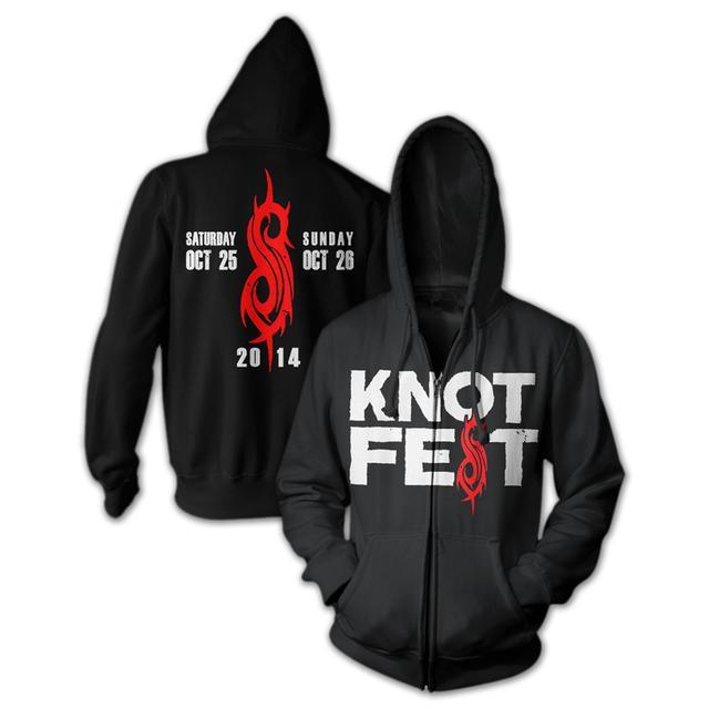 Slipknot Knotfest Logo Zip Hoodie
