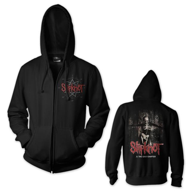 Slipknot The Gray Chapter Star Front Zip Hoodie