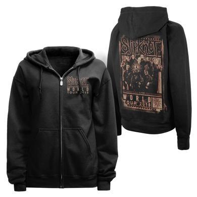 Slipknot BLURRED WORLD TOUR ZIP HOODIE