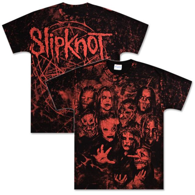Slipknot Red Photo Allover T-Shirt