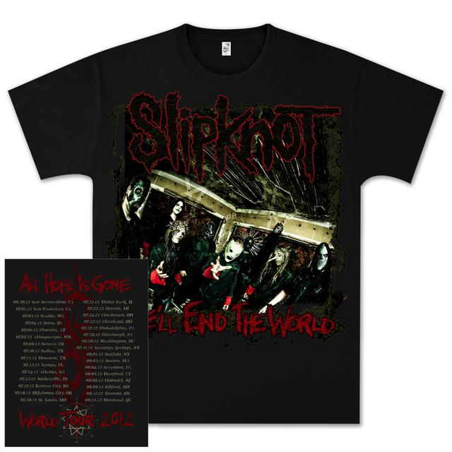 Slipknot All Hope Is Gone 2012 Tour T-Shirt