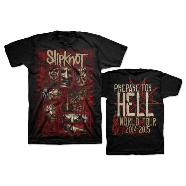 Slipknot Sketch Boxes PFH Back T-Shirt