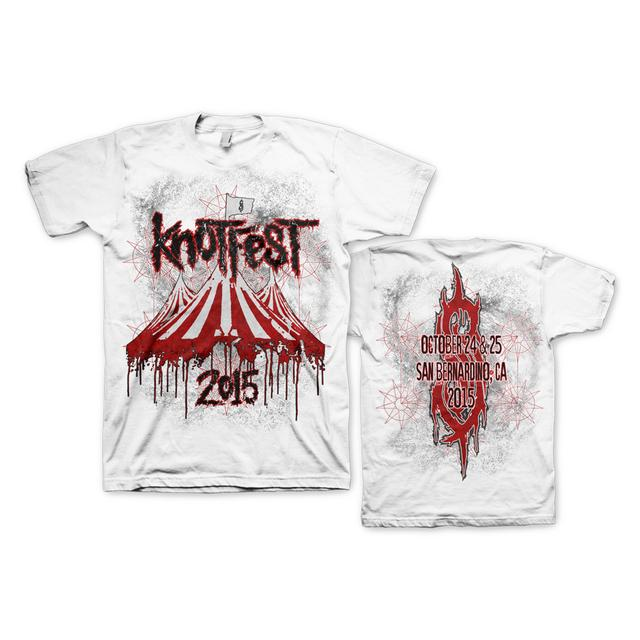 Slipknot DRIPPING TENT WHITE TEE
