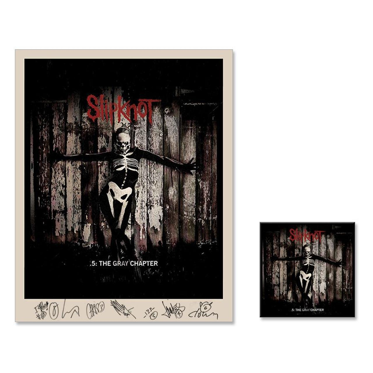 Slipknot 5 The Gray Chapter Signed Litho Music Bundle