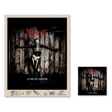 Slipknot .5: The Gray Chapter Signed Litho/Music Bundle