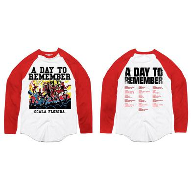 A Day To Remember SUMMER 2017 TOUR BASEBALL SHIRT