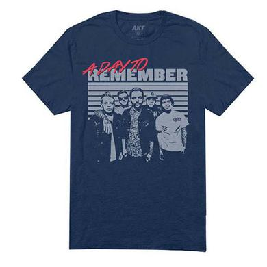 A Day To Remember Navy Retro Photo T-Shirt