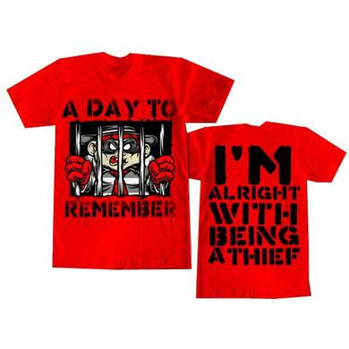 A Day To Remember Red Burgler T-Shirt