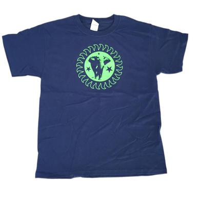 The Brand New Heavies Kids Navy Green Logo T-Shirt