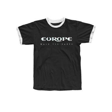 Europe Black White Logo Ringer T-Shirt