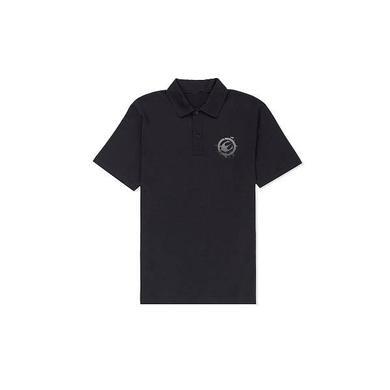 Europe Black Logo Embroidered Polo
