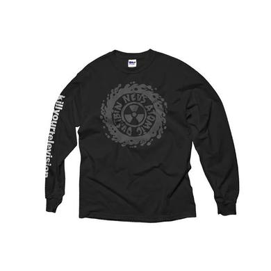 Ned's Atomic Dustbin Kill Your Television Longsleeve Black T-Shirt