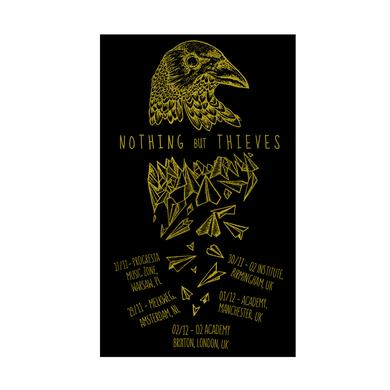 Nothing but Thieves RAVEN SCREEN PRINT GOLD