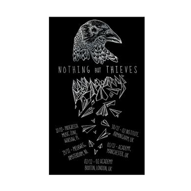 Nothing but Thieves RAVEN SCREEN PRINT SILVER