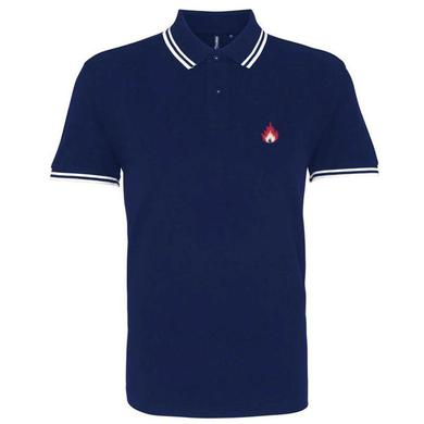 Stiff Little Fingers Navy Flame Polo Shirt