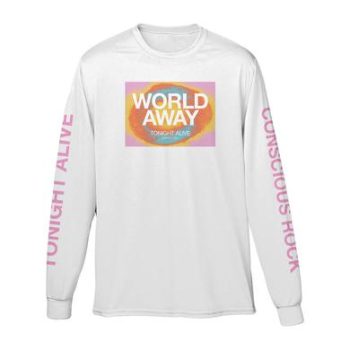 Tonight Alive WHITE CONSCIOUS ROCK L/S TEE