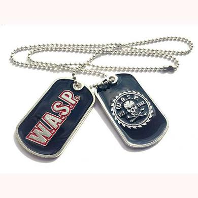 W.A.S.P Logo Dog Tag Necklace