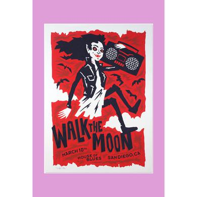 Walk The Moon San Diego, CA (3/10/2015) Poster