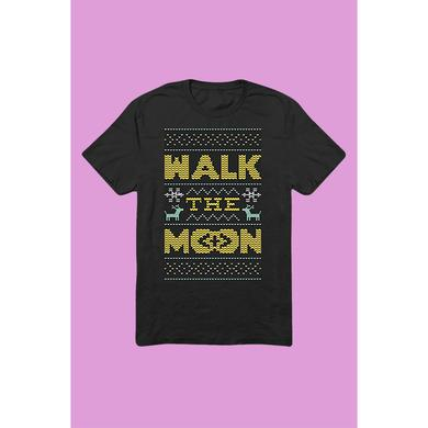 Walk The Moon Holiday Sweater T-Shirt (Black)