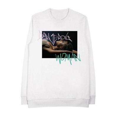 Ariana Grande Dangerous Woman Tag White Crewneck