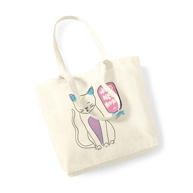 Tom Jones WHATS NEW PUSSY CAT NATURAL TOTE BAG