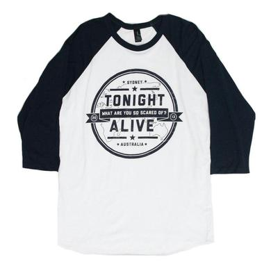 Tonight Alive What Are You So Scared Of Baseball Tee (White/Navy)
