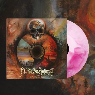"""Fit For An Autopsy The Great Collapse 12"""" Vinyl (Opaque + Pink Swirl)"""