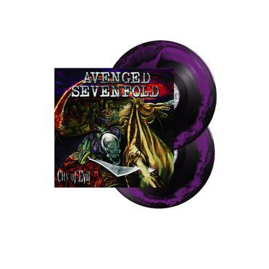 "Avenged Sevenfold City Of Evil 12"" Vinyl ( Black / Purple Smash)"