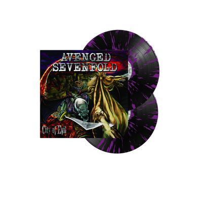 """Avenged Sevenfold City Of Evil 12"""" Vinyl (Black w/ Purple Splatter)"""