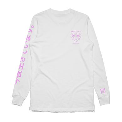 Tonight Alive Crack My Heart Open Long Sleeve (White)