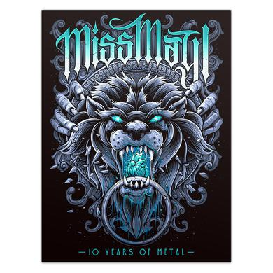 Miss May I 10 Years Of Metal Poster (A2)