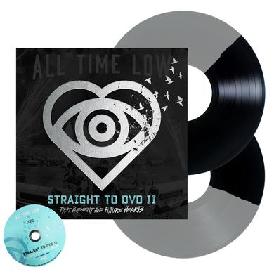 All Time Low Straight To DVD II: Past, Present and Future Hearts 2LP + DVD (Black + Silver Half Half)