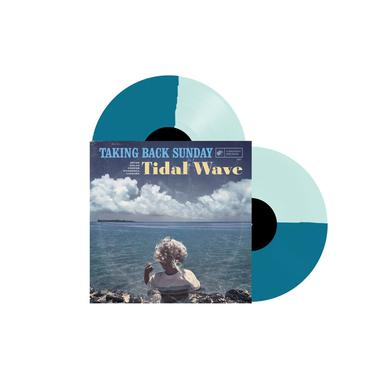 "Taking Back Sunday Tidal Wave (12"" Coke Bottle Clear & Turquoise - Half/Half Vinyl)"