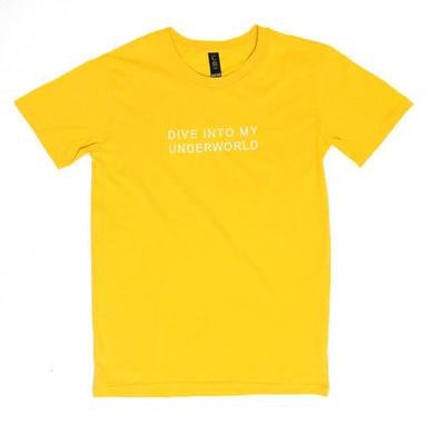 Tonight Alive Dive Into Embroidered Tee (Yellow)