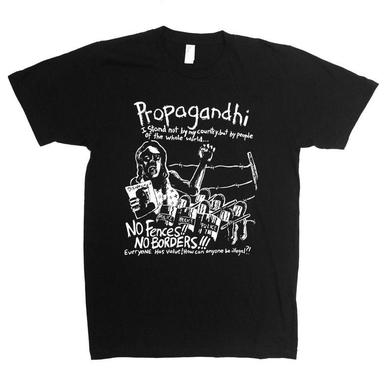 Propagandhi No Borders No Fences Shirt Tee (Black)