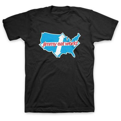Jimmy Eat World Across America Tee (Black)