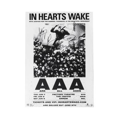 In Hearts Wake Signed AAA Tour Poster (A3)