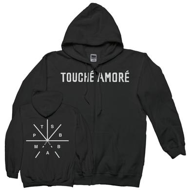 Touche Amore PTSBBAM Zip Up Hoodie (Black)