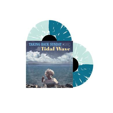 "Taking Back Sunday Tidal Wave (12"" Coke Bottle Clear & Turquoise - Half/Half w/ Splatter Vinyl)"