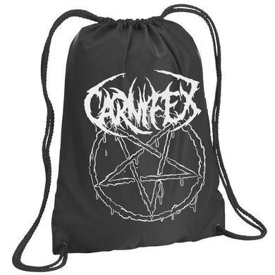 Carnifex Pentagram (Black Drawstring Backpack)
