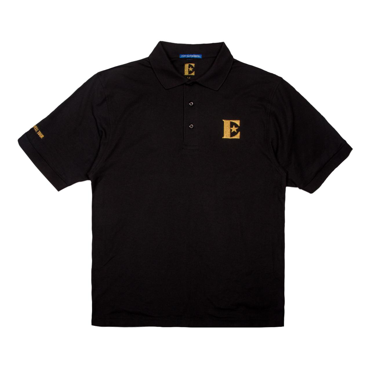 Elton John Gold Embroidered Polo Shirt