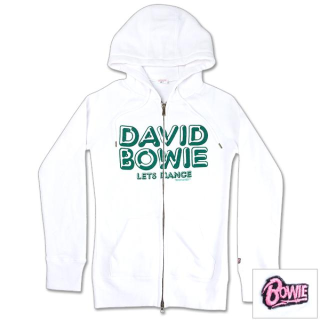 David Bowie Women's White Let's Dance Hoodie